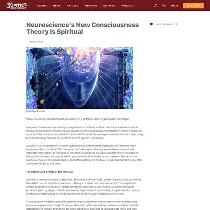 Neuroscience's New Consciousness Theory Is Spiritual - SAND