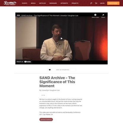 SAND Archive - The Significance of This Moment - SAND