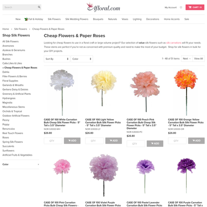 Paper Flowers   Fake Flowers   Cheap Silk Flowers at Afloral.com