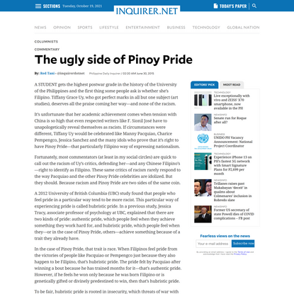 The ugly side of Pinoy Pride