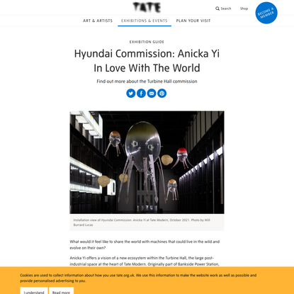 Hyundai Commission: Anicka Yi: In Love With The World – Exhibition Guide   Tate
