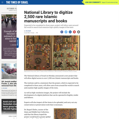 National Library to digitize 2,500 rare Islamic manuscripts and books
