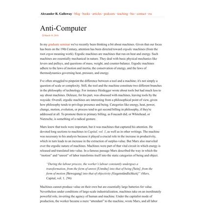 Anti-Computer   Alexander R. Galloway