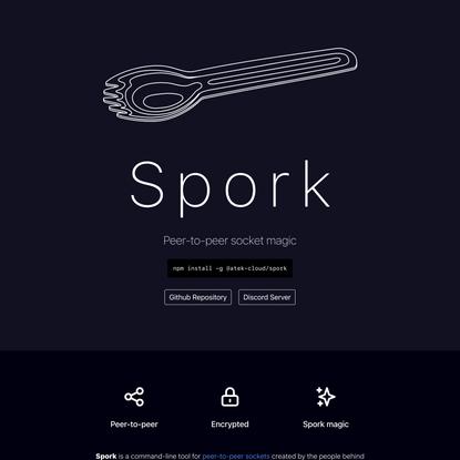 Spork CLI tool