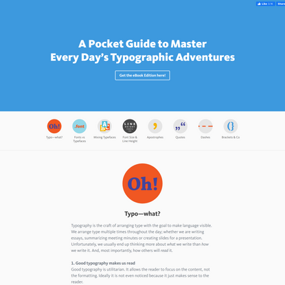 A Pocket Guide to Master Every Day's Typographic Adventures