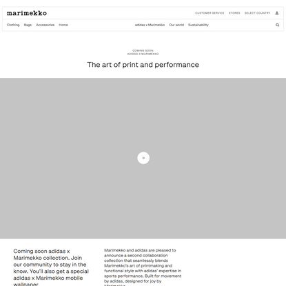 adidas x Marimekko | The art of print and performance - Marimekko