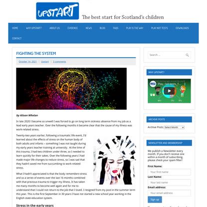 Fighting the system - Upstart
