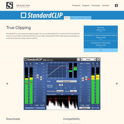 StandardCLIP | Details | SIR Audio Tools