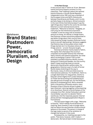 Metahaven - Brand States: Postmodern Power, Democratic Pluralism, and Design