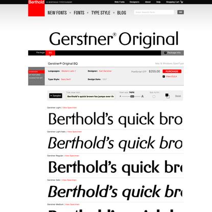 Gerstner® Original BQ