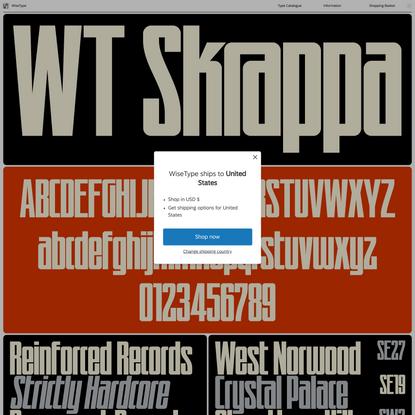 WiseType — WT Skrappa