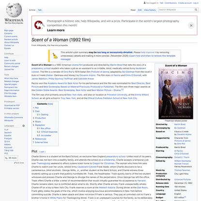 Scent of a Woman (1992 film) - Wikipedia