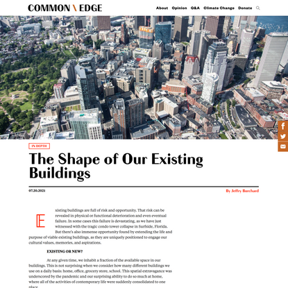 The Shape of Our Existing Buildings – Common Edge