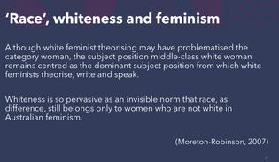Whiteness and feminism