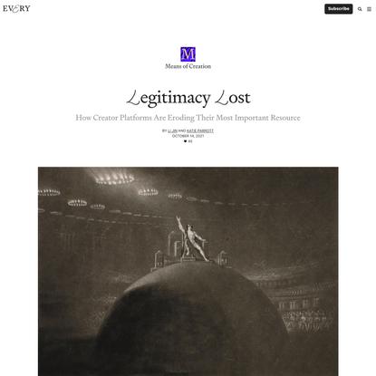 Legitimacy Lost