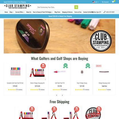 Buy the Best Golf Club Stamps   Wedge Stamping   Paint Fill Golf Clubs