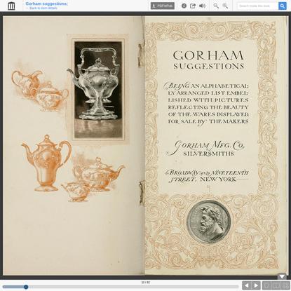 Gorham suggestions;