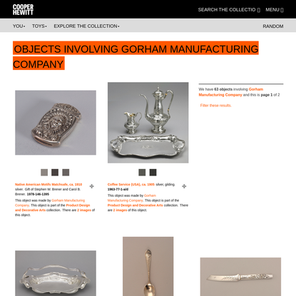 Gorham Manufacturing Company | People | Collection of Cooper Hewitt, Smithsonian Design Museum