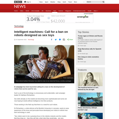 Call for a ban on robots for sex