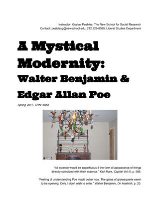 New School CRN 6858: A Mystical Modernity