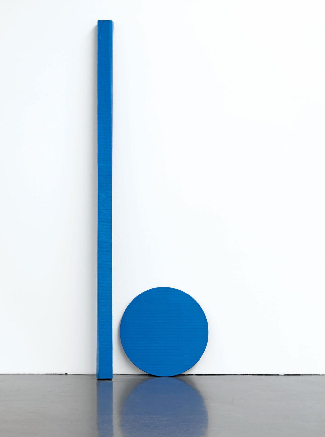Blinky Palermo, Blaue Scheibe und Stab (1968)