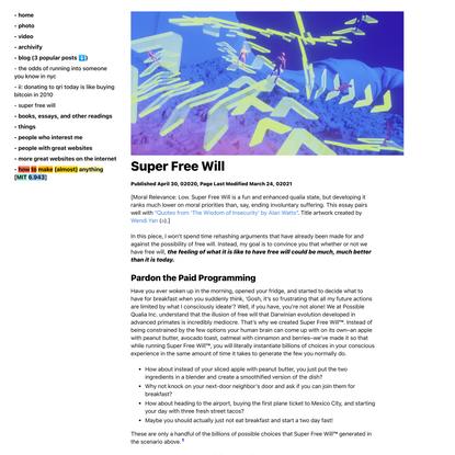 Super Free Will