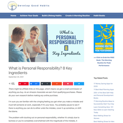 What is Personal Responsibility? 8 Key Ingredients