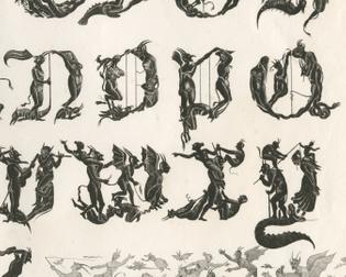 Jean Midolle, Alphabet Diabolique, Emile Simon fils press, France, 1835