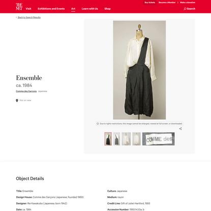 Comme des Garçons   Ensemble   Japanese   The Metropolitan Museum of Art