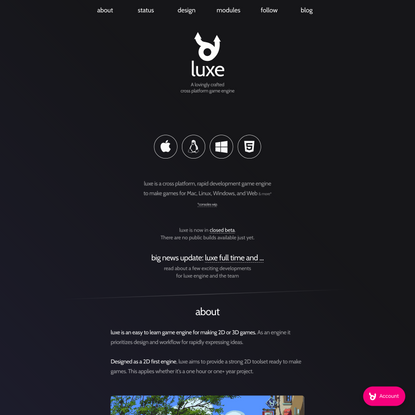 luxe engine | A lovingly crafted game engine