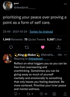 prioritize your inner peace