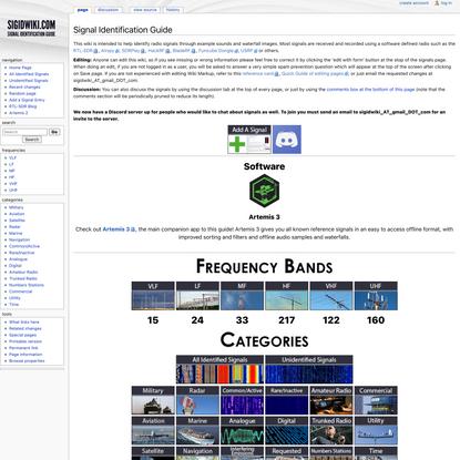 Signal Identification Wiki