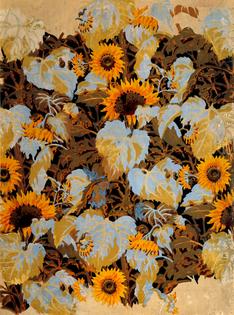 Charles Burchfield - Sunflowers Wallpaper (1921)