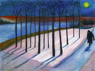 Image  Marianne von Werefkin - Moonlit Landscape (1907)