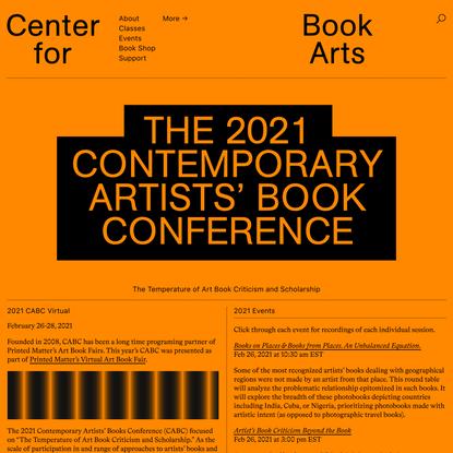 2021 CABC - Center for Book Arts