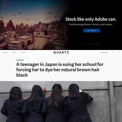 A teenager in Japan is suing her school for forcing her to dye her natural brown hair black