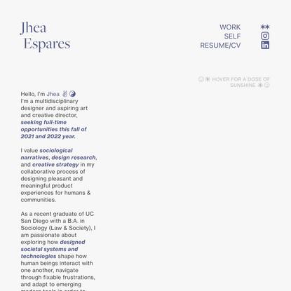 Jhea Espares - Portfolio