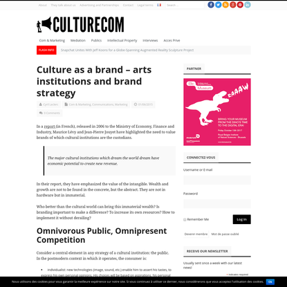 Culture as a brand - arts institutions and brand strategy