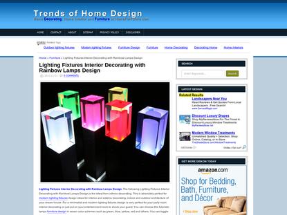 Lighting Fixtures Interior Decorating with Rainbow Lamps Design