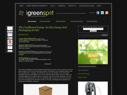 Eco Friendly Cardboard Lamp