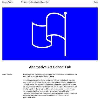 Alternative Art School Fair   Pioneer Works