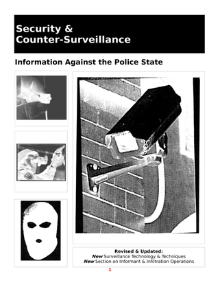 Security and Counter-Surveillance Information Against the Police State