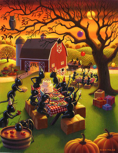 Farmer ants having a party