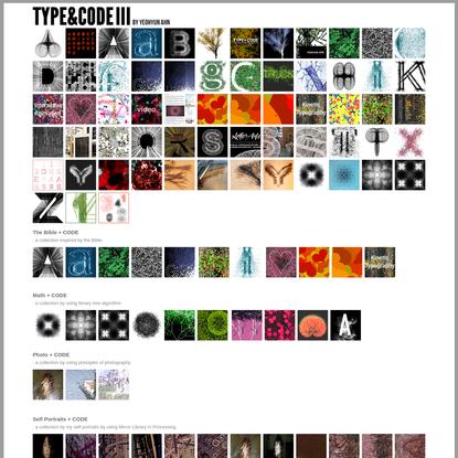 TYPE+CODE III by Yeohyun Ahn