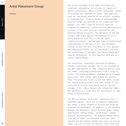 Artist Placement Group - Context is Half the Work