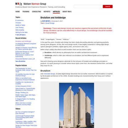Brutalism and Antidesign