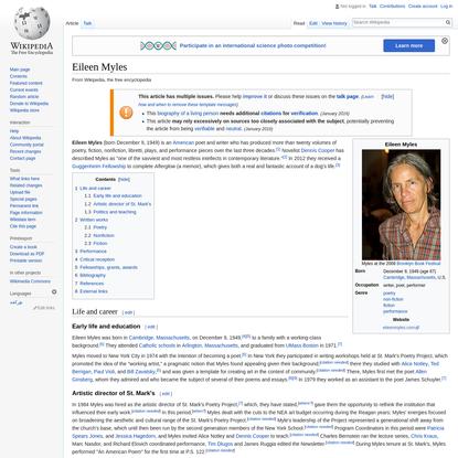 Eileen Myles - Wikipedia