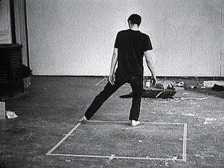 Bruce Nauman dance or exercise on the perimeter of a square - 1968