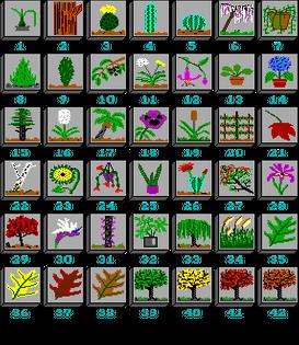 """Tile Set: Flora.til for """"Mah Jongg"""" by Maddad & Polly Hewitt (1990-93)"""