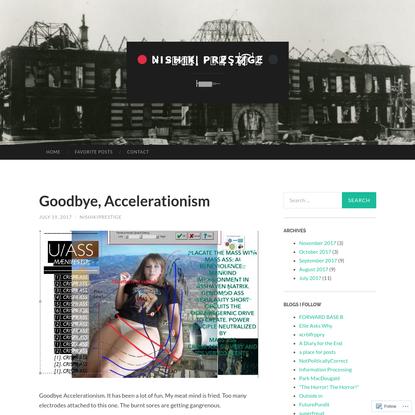 Goodbye, Accelerationism